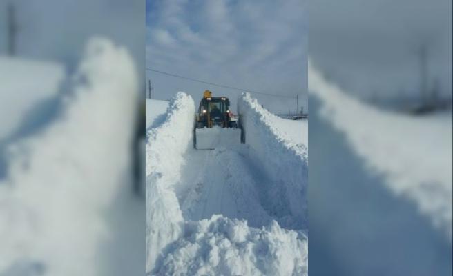 Kağızman'da 4 köy yolu ulaşıma kapalı