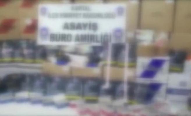 Kartal'da kaçak tütün operasyonu: 350 kilo tütün ele geçirildi