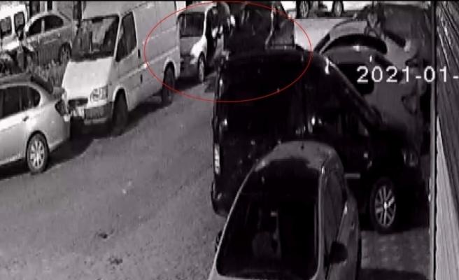 (ÖZEL) MOBESE kameralarının altında 30 saniyede araba çaldılar