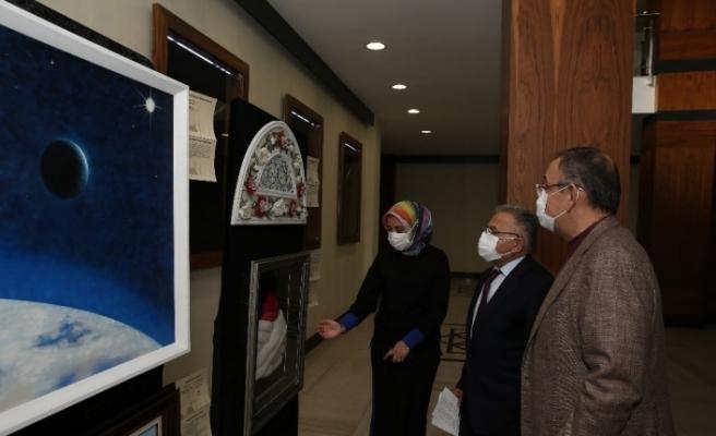 Özhaseki, Büyükşehir'de Mimar Sinan Sergisi'ni gezdi