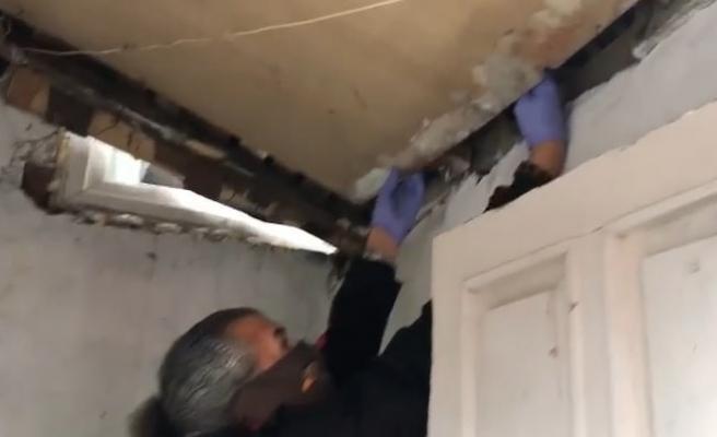 Polis, evin gizli bölmelerindeki zehiri böyle buldu