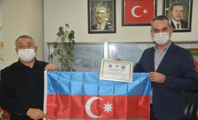 Ünsal'dan Ak Parti Merkez İlçe Başkanına teşekkür belgesi