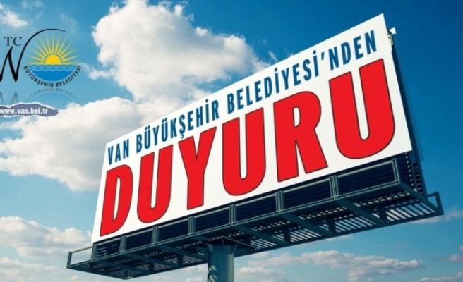 Van Büyükşehir Belediyesi 112 memur alacak