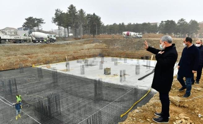 Yeni hizmet binası inşaatı hızla yükseliyor