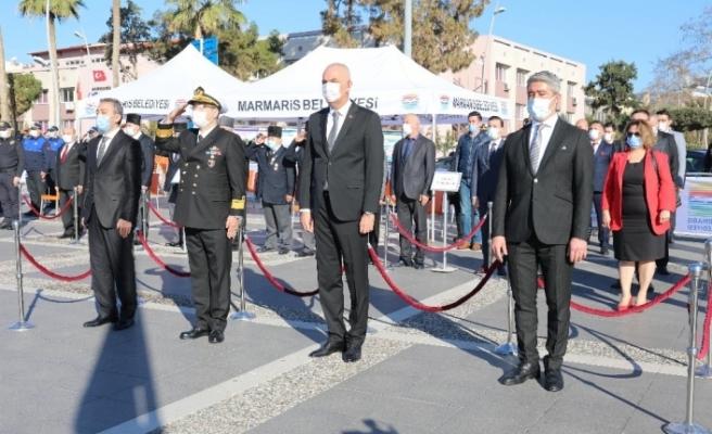 Atatürk'ün Marmaris'e gelişinin 86.yılı törenle kutlandı