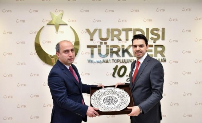 Azerbaycan Eğitim Bakanı Amrullayev'den YTB'ye ziyaret
