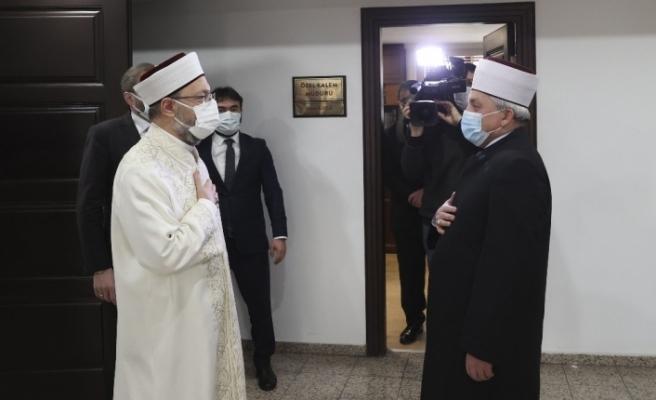 Diyanet İşleri Başkanı Erbaş, Kuzey Makedonya İslam Birliği Başkanı Fetahu'yu kabul etti