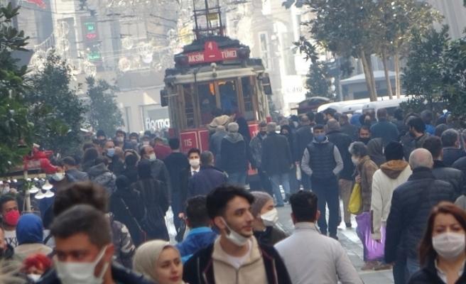 Güneşi gören Taksim'e akın etti, sosyal mesafe unutuldu