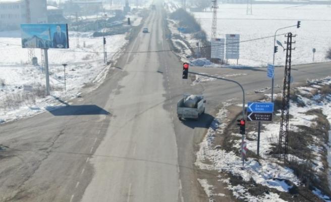 Jandarma trafikten drone ile denetim
