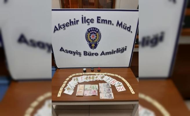 Konya'da boş daireye kumar baskını