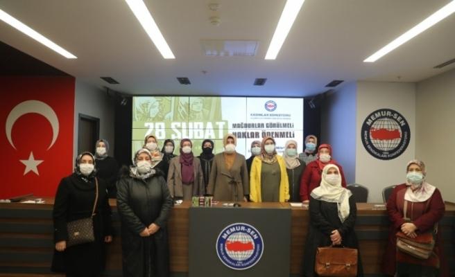 """Memur-Sen Kadınlar Komisyonu Başkanı Aydın: """"Millete ayar vermek isteyenlere gerçek ayarı millet verdi"""""""