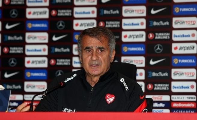 """Şenol Güneş: """"Hedefimiz Dünya Kupası'na katılmak"""""""