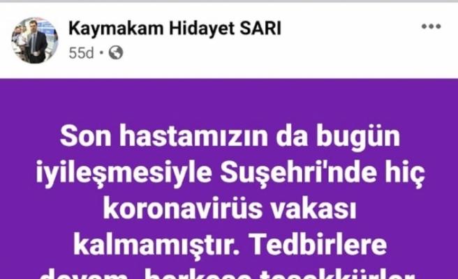 Sivas'ın 25 bin nüfuslu ilçesinde Covid-19 vakaları sıfırlandı