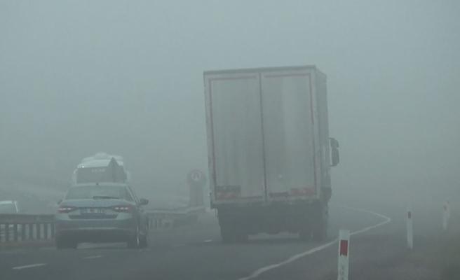 Tekirdağ'da sis etkili oluyor