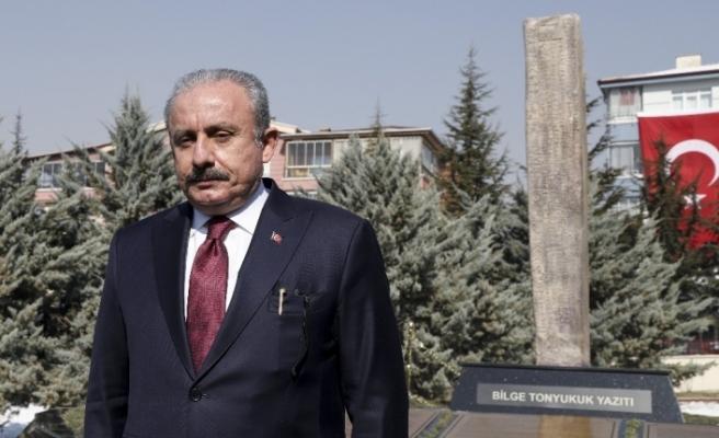 """""""Türk Dünyası Tonyukuk Parkı"""" ve Bilge Tonyukuk Yazıtı'nın açılışı TBMM Başkanı Şentop tarafından yapıldı"""