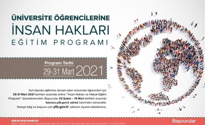 YTB'nin İnsan Hakları Online Eğitim Programı'na başvurular başladı
