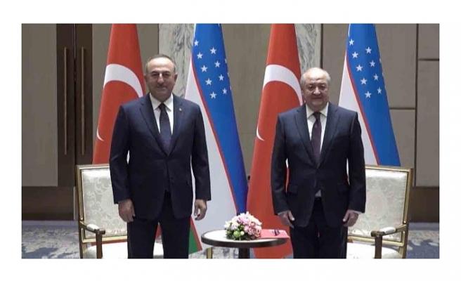 Bakan Çavuşoğlu Özbek mevkidaşı Kamilov ile görüştü