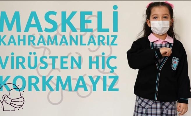 Bursa'da minik öğrencilerden işaret diliyle kamu spotu