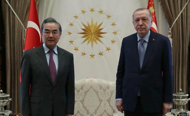 Cumhurbaşkanı Erdoğan, Çin Dışişleri Bakanı'nı kabul etti