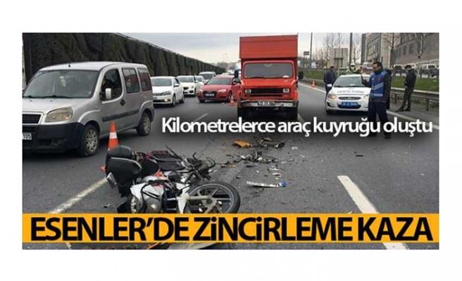 Esenlerde zincirleme kaza: Kilometrelerce araç kuyruğu oluştu