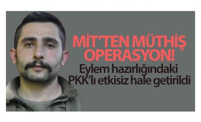 Eylem hazırlığındaki PKK'lı Hüseyin İnal etkisiz hale getirildi