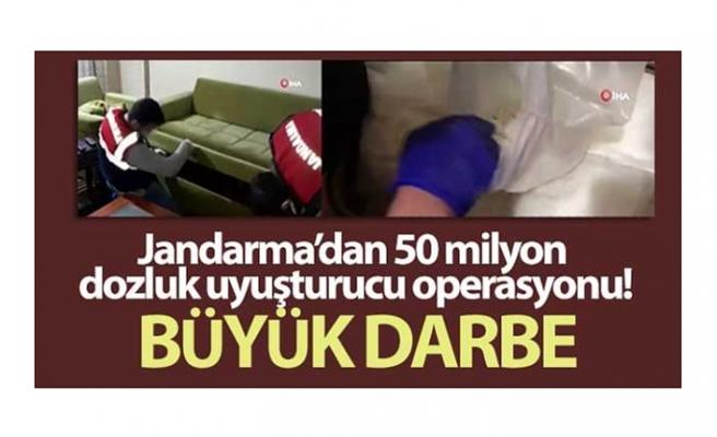Jandarma'dan 50 milyon dozluk uyuşturucu operasyonu kamerada