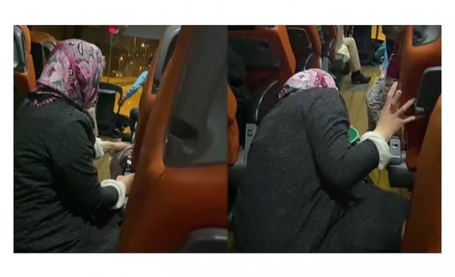 Otobüste engelli yolcu istifra edince 'temizlik' yaptırıldı! O anlar kameraya yansıdı