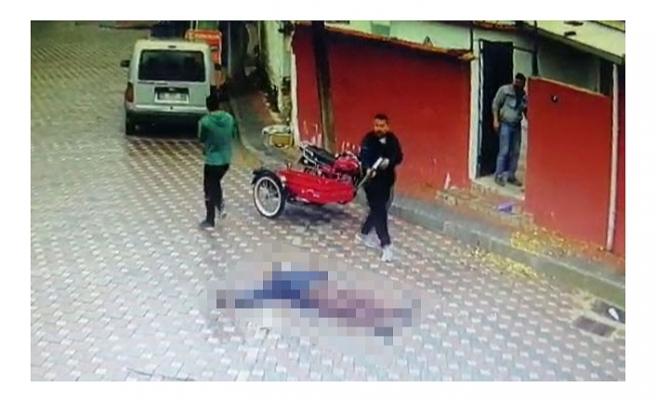 Annesinin eski eşini pompalı tüfekle öldürdüğü anlar güvenlik kamerasında
