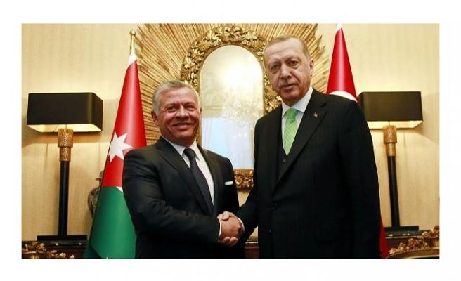 Cumhurbaşkanı Erdoğan Ürdün Kralı 2. Abdullah ile görüştü