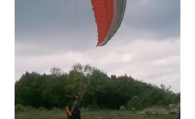Bursa'da ölü bulunan paraşütçünün son uçuşunun görüntüleri