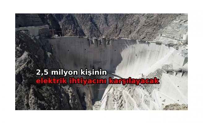 Türkiye'nin en yüksek barajındaekonomiye yıllık 2milyar TL katkı