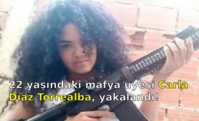 22 yaşındaki mafya üyesi Carla Díaz Torrealba, yakalandı!