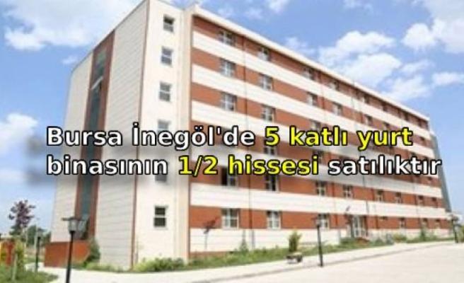 Bursa İnegöl'de 5 katlı yurt binasının 1/2 hissesi satılıktır