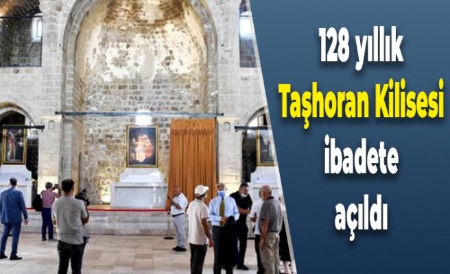 128 yıllık Taşhoran Kilisesi ibadete açıldı