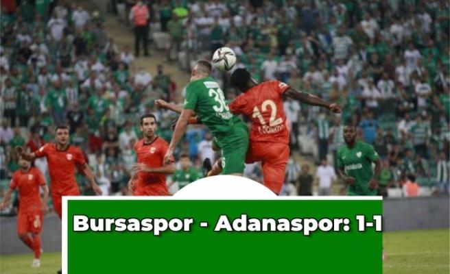 Bursaspor - Adanaspor: 1-1