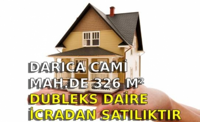 Darıca Cami Mah.de 326 m² dubleks daire icradan satılıktır