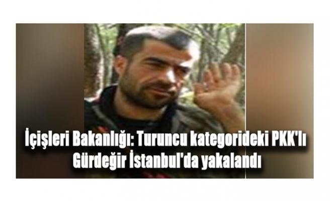 İçişleri Bakanlığı: Turuncu kategorideki PKK'lı Gürdeğir İstanbul'da yakalandı