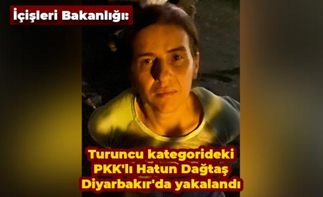 İçişleri Bakanlığı: Turuncu kategorideki PKK'lı Hatun Dağtaş Diyarbakır'da yakalandı