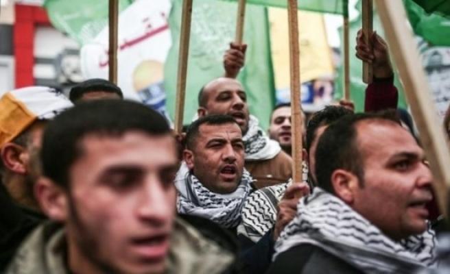 Gazze'de 'ABD'nin kararları' protesto edildi
