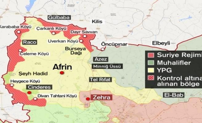 TSK Afrin'de teröristlerden temizlenen bölgeleri açıkladı... Sınırda sadece iki nokta kaldı