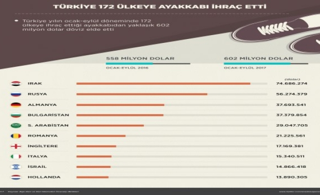 Türkiye 172 ülkeye ihraç yaptı