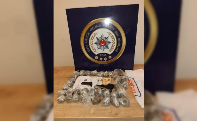 Bursa'da uyuşturucu ticaretine 2 tutuklama