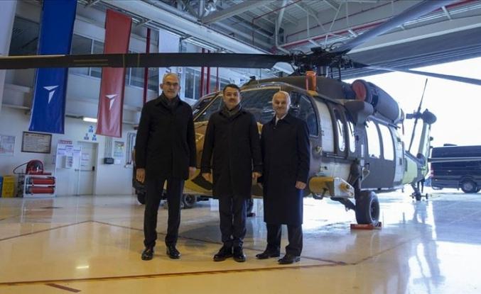 Yangınla mücadelede yerli helikopter atağı