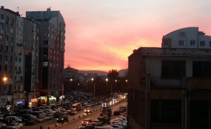 Kayseri'de gün batımı büyüledi