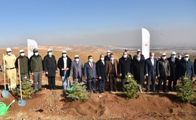 Konya'da Öğretmen Hatıra Ormanı için fidan dikimi yapıldı
