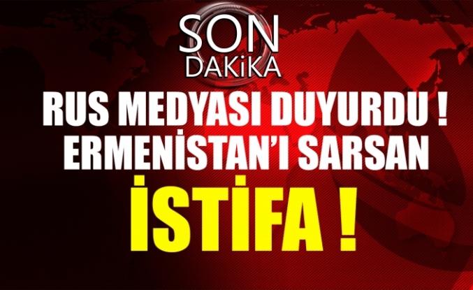 Rus medyası son dakika duyurdu Ermenistan'ı sarsan istifa !
