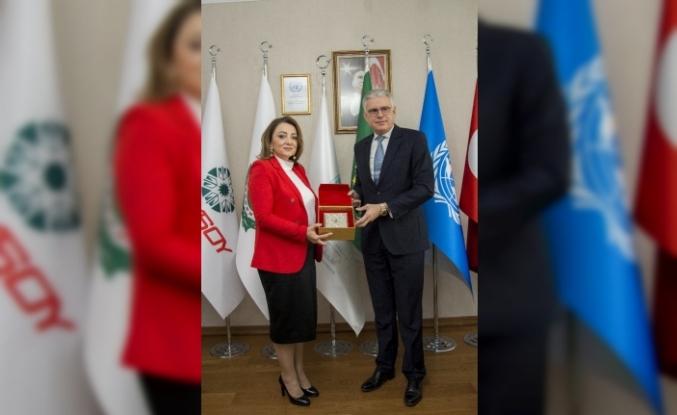 Fas'ın Ankara Büyükelçisi Lazreq, ULUSKON Genel Merkezi'ni ziyaret etti