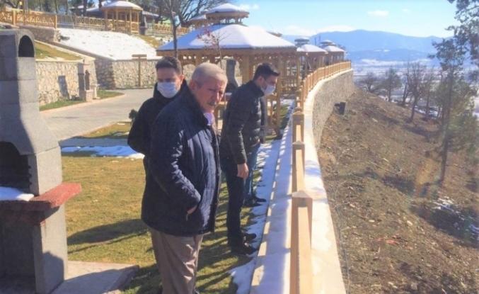 Başkan Sarı, Serçoban mesire alanındaki genişletme çalışmasını inceledi