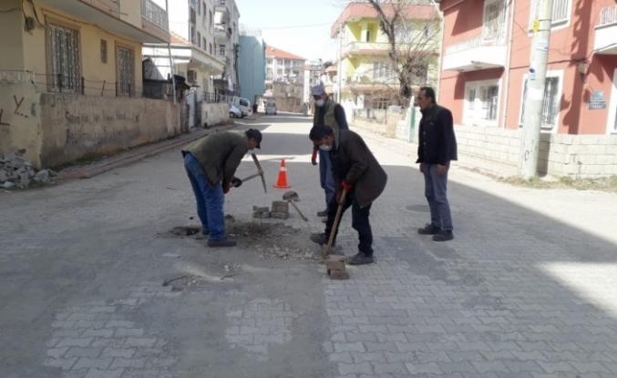 Gölbaşı Belediyesinden yol çalışması