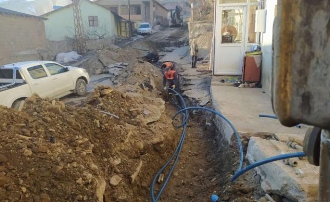 Hakkari'de 12 ailenin su sorunu çözüldü